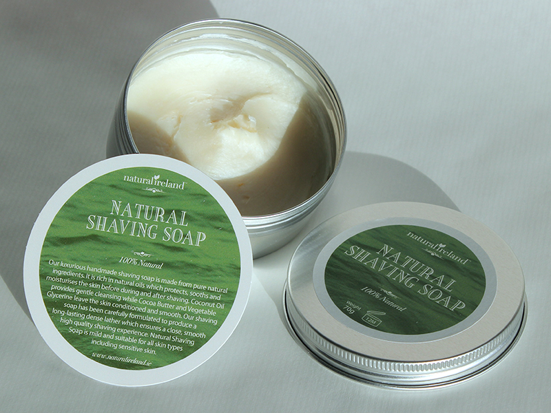 100% NATURAL SHAVING SOAP