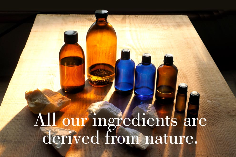 All our ingredients are derived from nature.