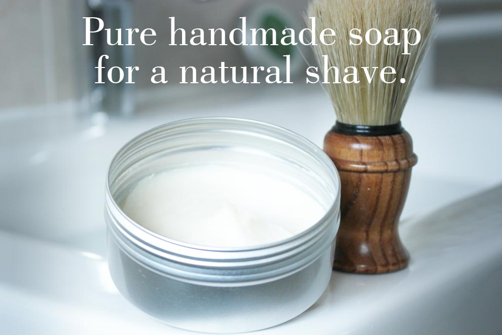 Pure handmade soap for a natural shave.
