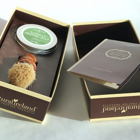 Luxury Shaving Gift  Set with Natural Shaving Soap & Solid Wood Shaving Brush