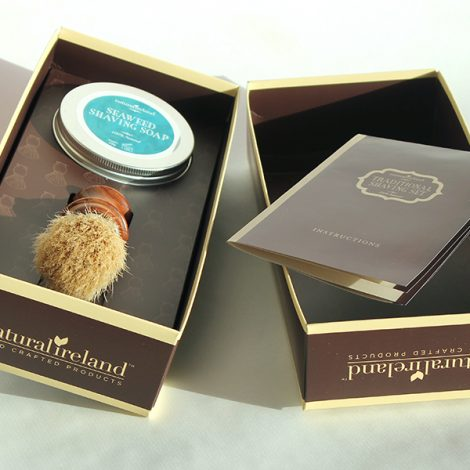 Luxury Seaweed Shaving Gift Set with Seaweed Soap & Ash Wood Brush
