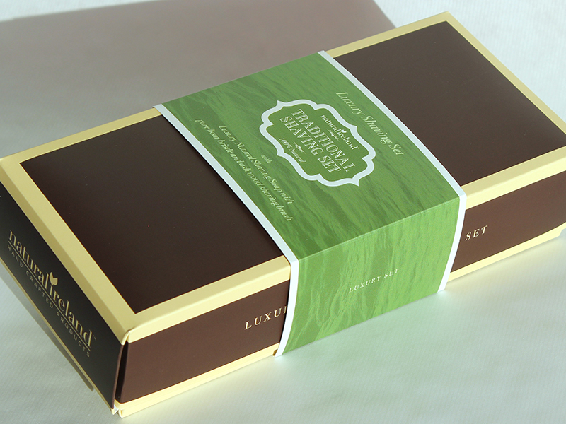 Luxury Shaving Gift Set with Natural Shaving Soap & Solid Wood Shaving Brush