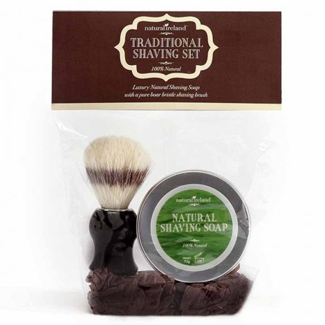 Shaving Gift Set with Natural Shaving Soap & Pure Boar Brush